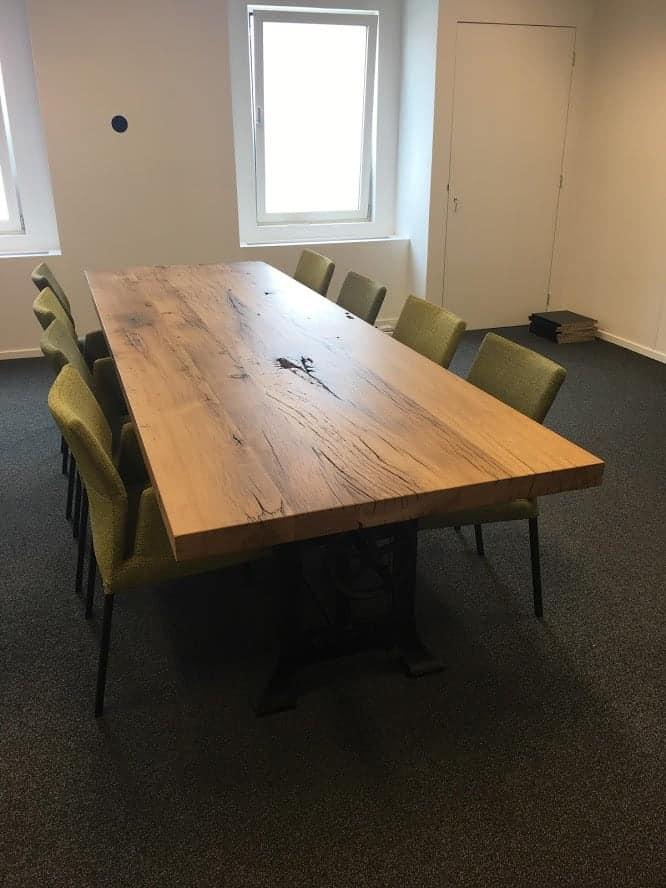 oud eiken geschaafd vergadertafel