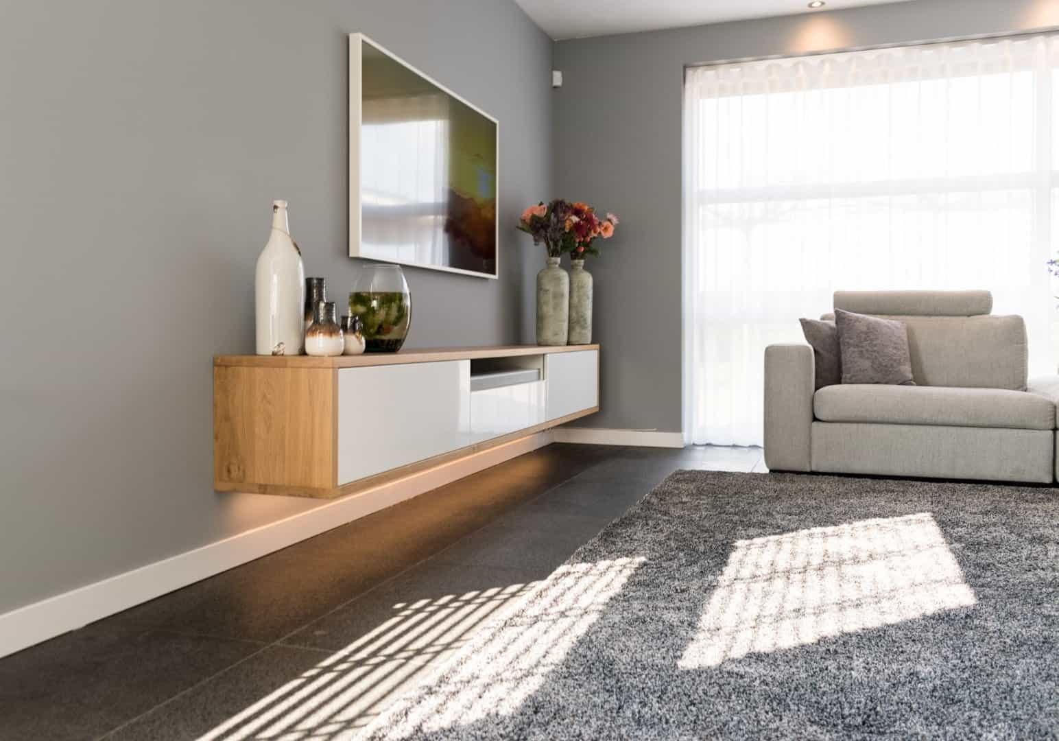 kasten zwevend tv meubel | hout en vorm