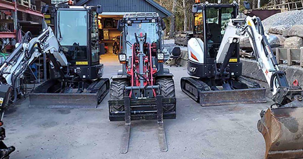 Utleie av Anleggsmaskiner, Minigraver, hjullaster og anleggstjenester