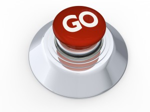 Red button labeled with the word GO.