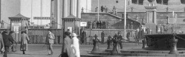 1923 pollare vid Poseidonbrunnen