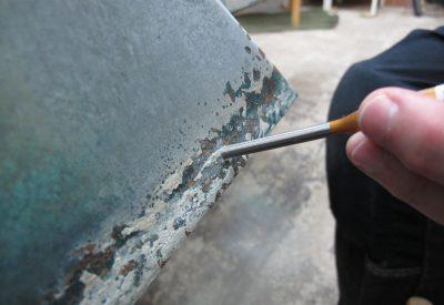 Mekanisk bearbetning efter isblästring.