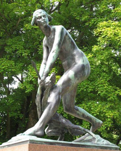 """Diana"" (1919)  in Slottsparken, Helsingborg.  Restored in 2011."