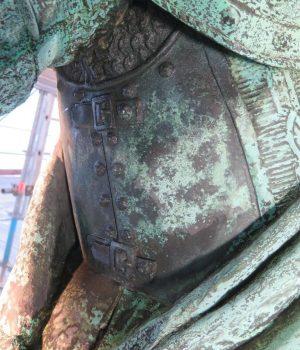 Karl XI:s högra sida före konservering.
