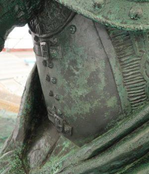 Karl XI:s högra sida efter konservering.