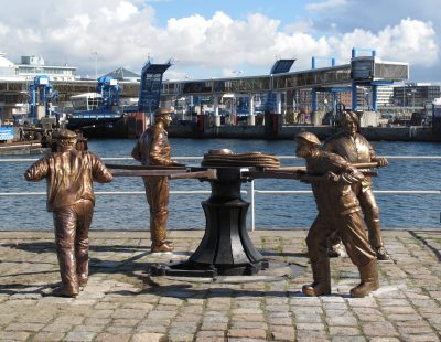 Skulpturgruppen efter konservering.