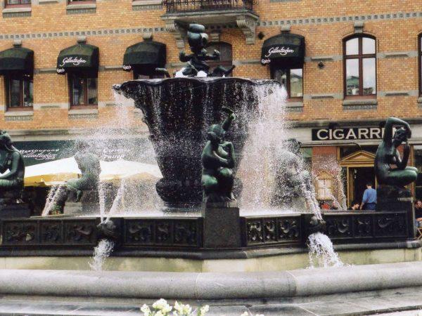 Järntorgsbrunnen efter konservering.