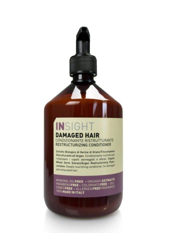 INsight DAMAGED-hair Conditioner hårpleje GURLY Girl godkendt 96%naturlig vegansk miljøvenlig