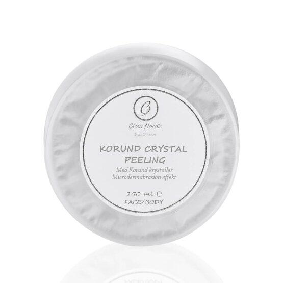 Korund Crystal Peeling glow nordic glat hud ren hud peeling ansigt og krop tør hud urenhud