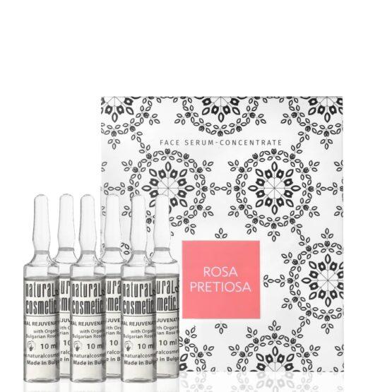 Glow nordic hudpleje Rose Face Lifting Serum-concentrate glatter hud anti-age ampuller skønhedspleje ansigt kur behandling vegansk tør hud moden hud