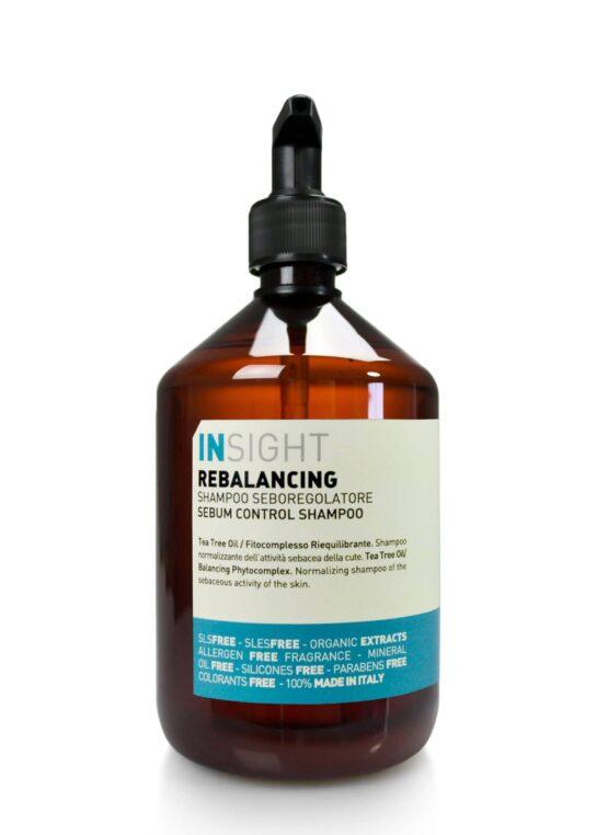INsight rebalancing shampoo hårpleje 96% naturlig vegansk miljøvenlig fedtet hovedbund