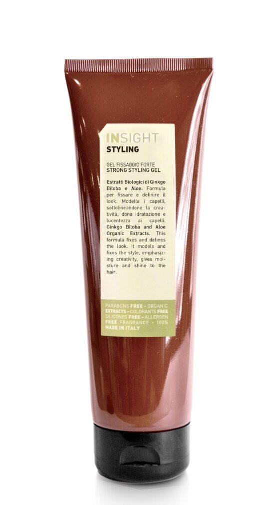 INsight Styling gel stronghold gel glansgivende hårstyling krøller glathår gel 96% naturlig vegansk miljøvenlig