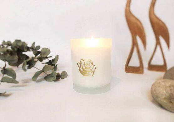 Rosenserien økologiske duftlys hyggelys naturlig duft romance