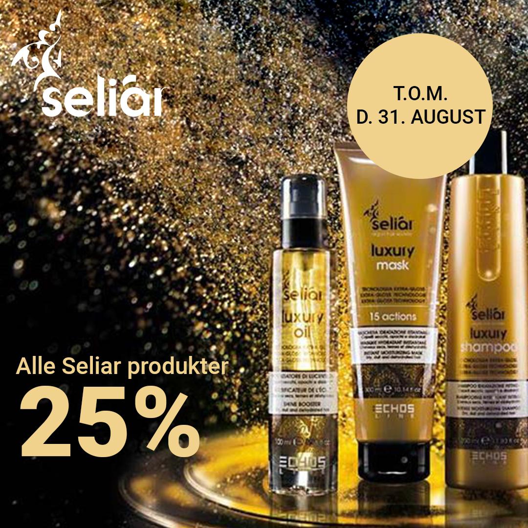 Tilbud Seliar 25% til 31 august