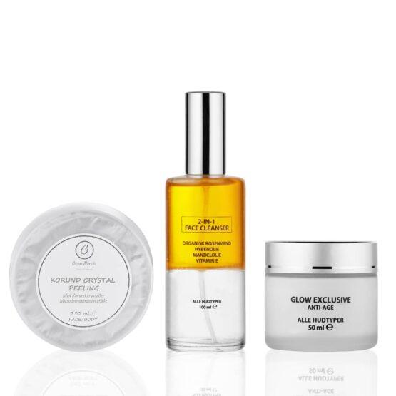 Glow Nordic kit 3 dele tør hud modenhud uren hud ung hud tør hud rens