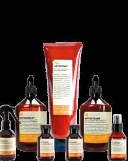INsight Antioxidant Rejuvinating Shampoo 400ml INsight Antioxidant Rejuvinating Conditioner 400ml INsight Antioxidant Rejuvinating Mask 250ml INsight Antioxidant Hydra-Refresh Hair & Body Water 150 ml INsight Antioxidant Protective Hair spray 100ml INsight Antioxidant Rejuvinating Shampoo 100ml INsight Antioxidant Rejuvinating Conditioner 100ml