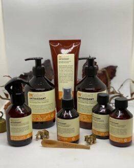 INsight Antioxidant Rejuvinating Shampoo 400ml INsight Antioxidant Rejuvinating Conditioner 400ml INsight Antioxidant Rejuvinating Mask 250ml INsight Antioxidant Hydra-Refresh Hair & Body Water 150 ml INsight Antioxidant Protective Hair spray 100ml INsight Antioxidant Rejuvinating Shampoo 100ml INsight Antioxidant Rejuvinating Conditioner 100mlhårpleje tilbud pakke vegansk -96%naturlig til kemisk og naturligt slidt hårs