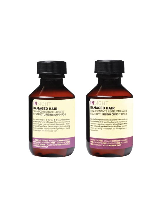 INsight hårpleje rejsestørrelser damagedhair 96%naturlig-vegansk Damaged Hair-dry hair-colorhair-Antifrizz-sensitiveskin-dailyuse-shampoo-Conditioner