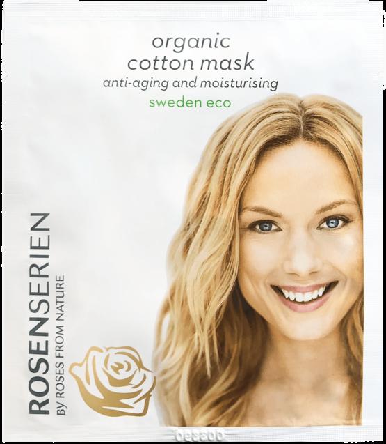 Rosenseriens økologiske Organic Cotton mask vegansk-Naturlig fugtgivende antiage fugtgivende skøndhedspleje