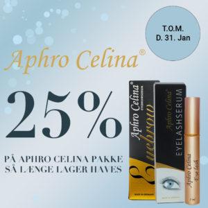 Tilbud Aphro Celina 25% til slut januar