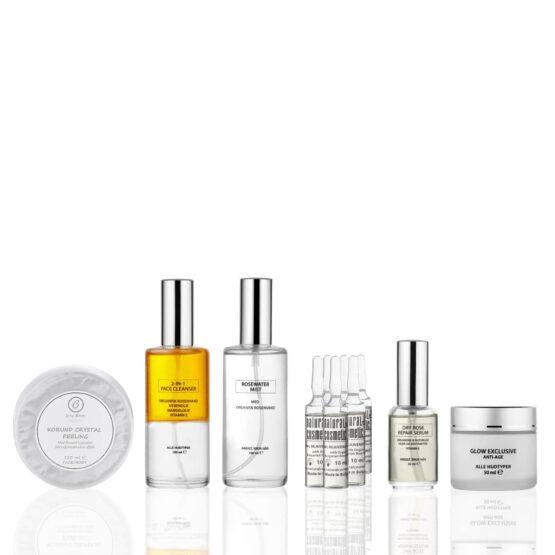 Glow Nordic komplet skønhedspleje tør hud moden hud ung hud uren hud