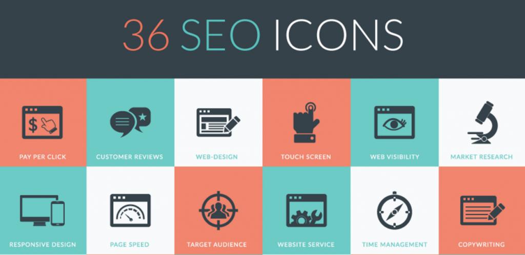 36 SEO iconen voor PowerPoint
