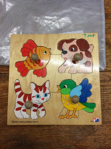 P108 - Houten puzzel dieren