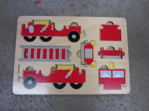 P110 - Houten puzzel brandweerwagen