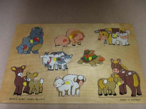 P12 - Puzzel houten dieren
