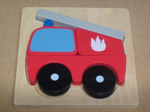 P18 - Houten puzzel brandweerwagen