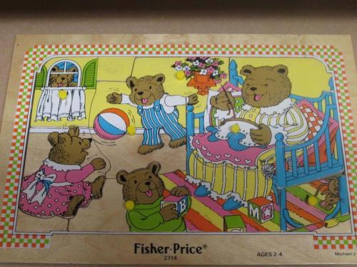 P25 - Houten puzzel berenfamilie