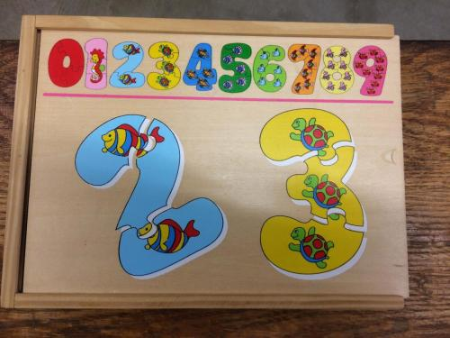 P34 - Houten puzzel cijfers