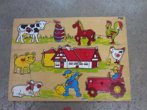 P45 - Houten puzzel boerderij