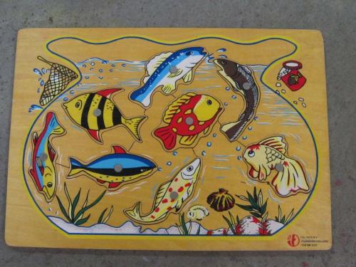 P54 - Houten puzzel vissen