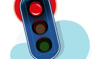 boete door rood rijden