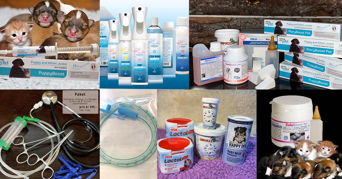 Hundslottets produkter för hund katt uppfödare