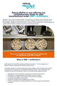 Raizup myPet certifiering GMP+