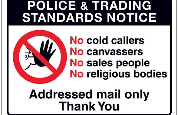 No Cold Calling Notice