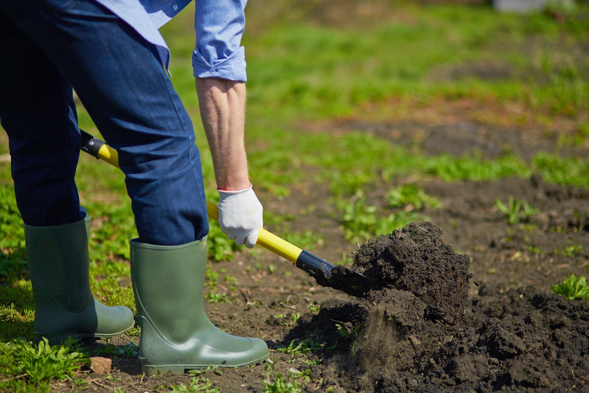 Du kan også komme til at ødelægge en kabel eller ledning hvis du graver i din have , selvom at du ikke bruger dig af en gravemaskine