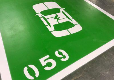 hvd-markeringen parkeervakken oplaadpunt