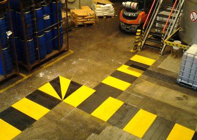 hvd-markeringen looproute veiligheid-fabriek