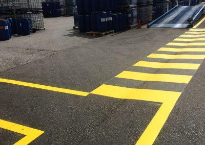 hvd-markeringen looppad-veiligheid-buitenterrein
