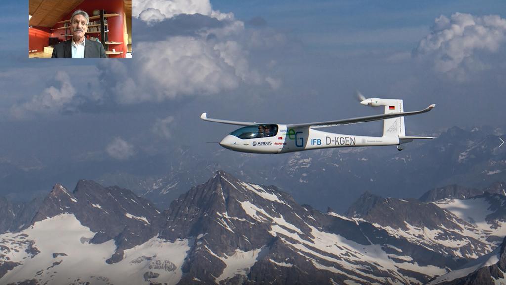 Klaus Ohlmann, Weltrekord-Pilot, setzt sich für sauberes Fliegen mit Wasserstoff ein