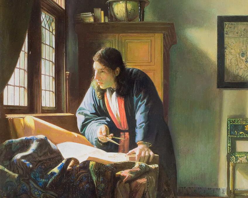 Veermer, El geógrafo, Museo del Prado: Miradas afines