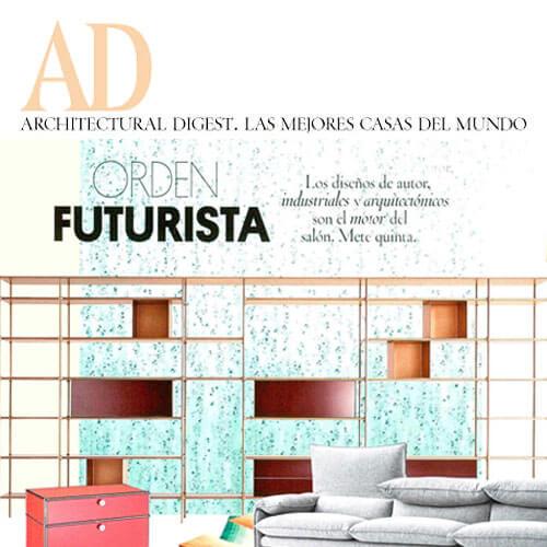 La Estantería Wind de Rimadesio remarca el orden futurista de tu salón EN AD (SEP 2018