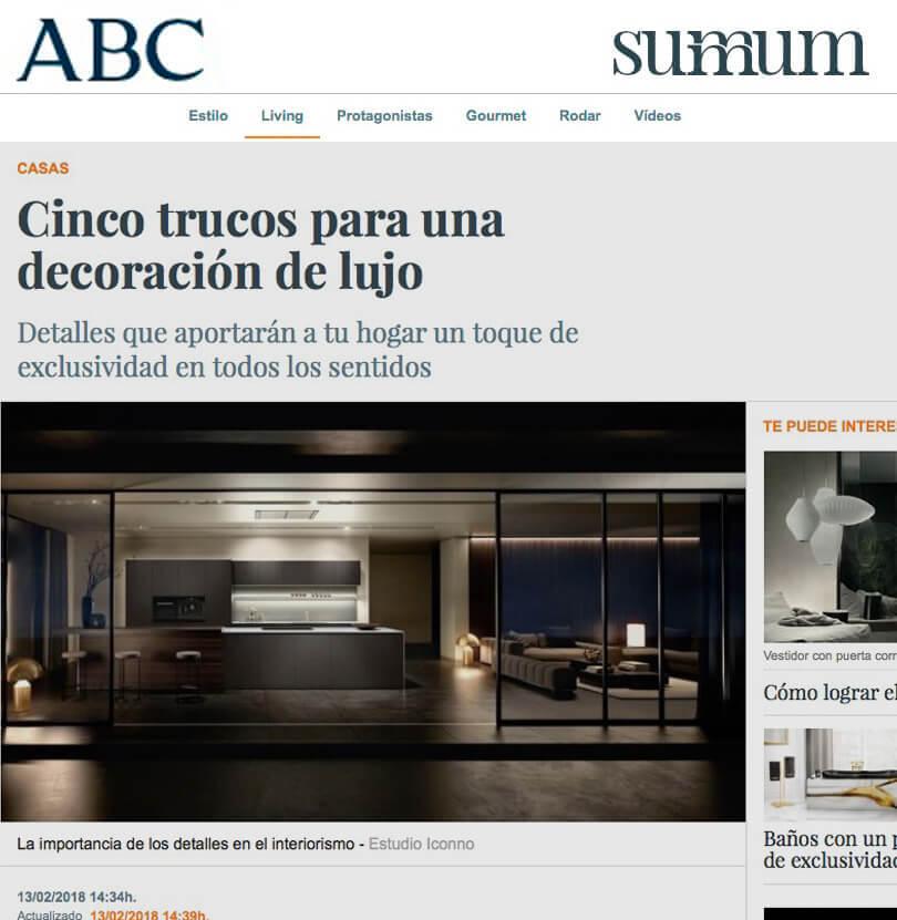 Cinco trucos iconno proyectos interiorismo ABC summun