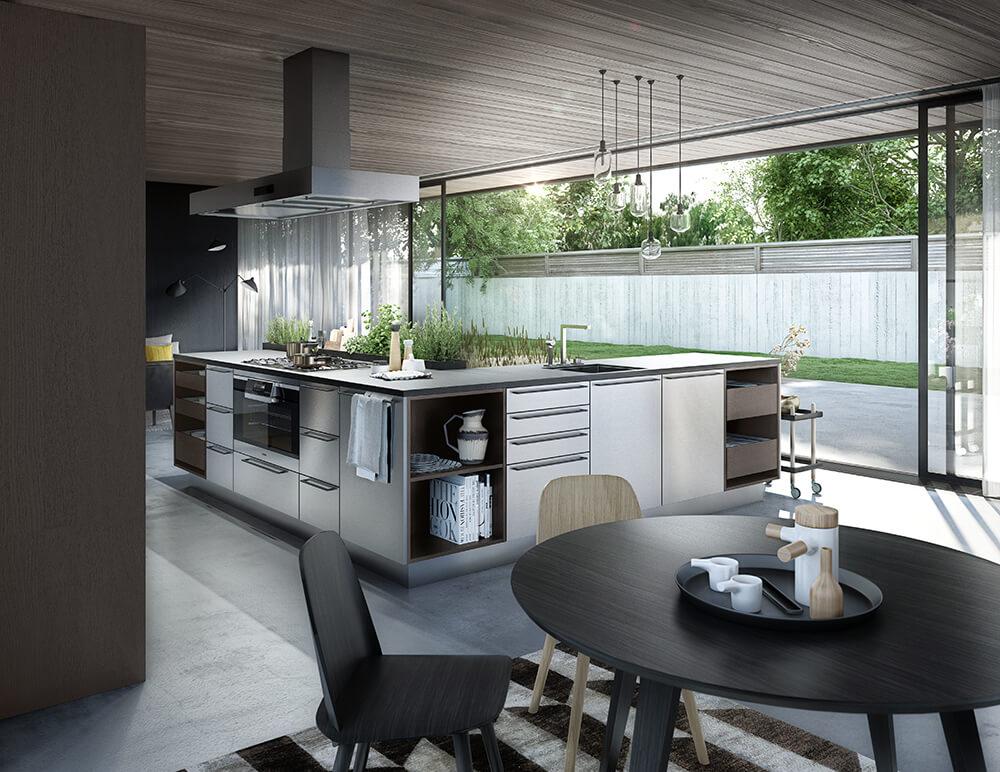 Claves deco: Huerto urbano en tu cocina. Maceteros integrados en la cocina de Siematic
