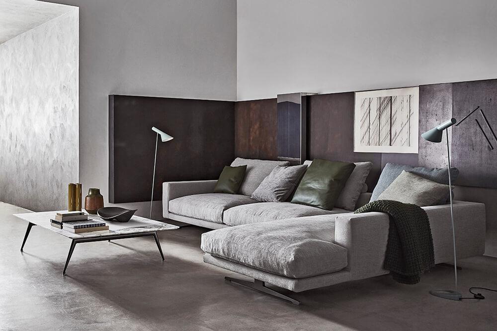 Claves de decoración Iconno: El cine en casa, sofas Campiello ambience de flexform