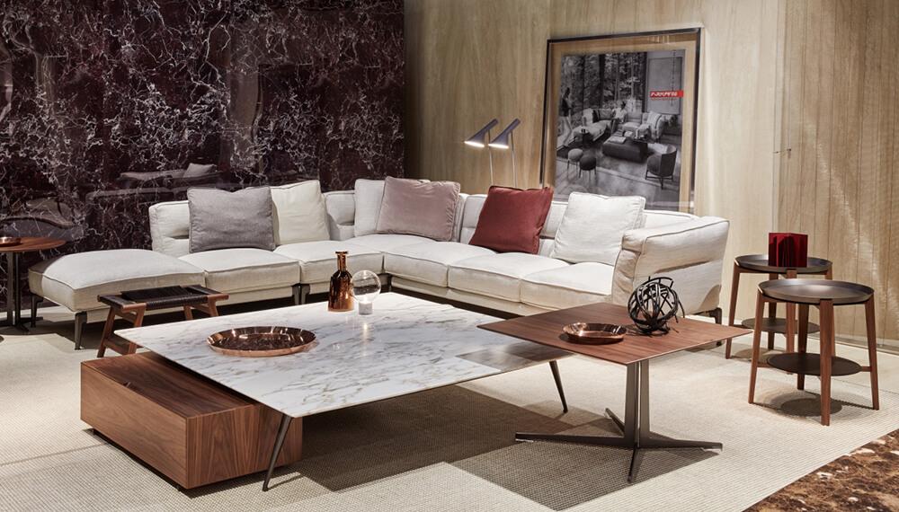 Flexform presenta el sofá Campello y mesa Ascanio como novedad en IMM Cologne