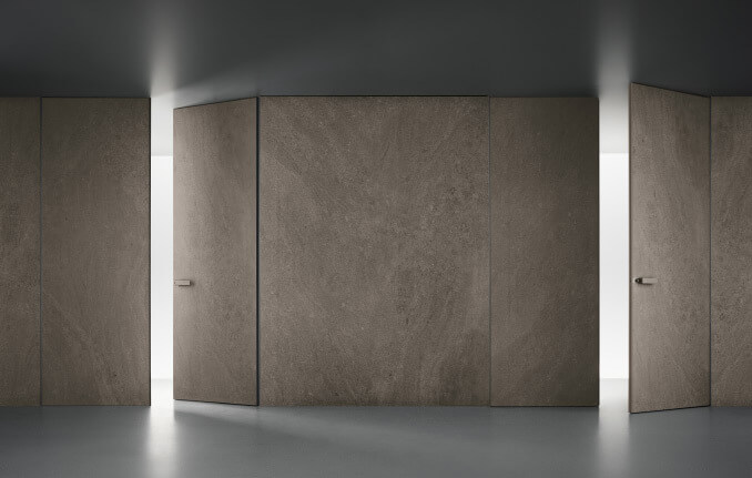 El Gres porcellanato de Rimadesio a prueba de golpes es el material estrella de puertas, paneles correderos, aparadores, estantes y armarios.